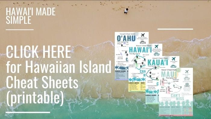 Hawaii Vacation Guide Cheat Sheets Info