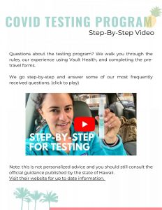 Maui Wayfinder Itinerary How To Complete COVID Testing Video