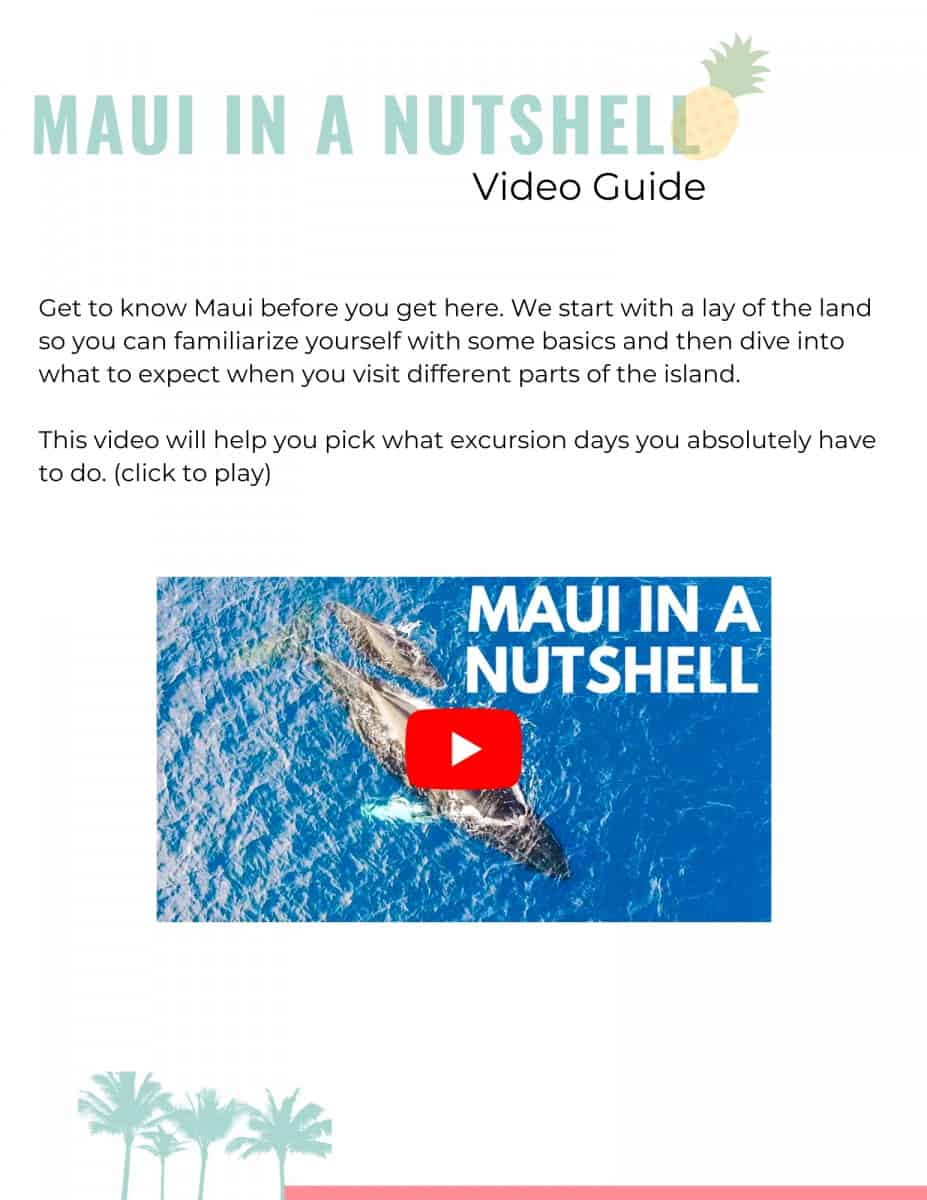 Maui Wayfinder Itinerary Maui Guide Video