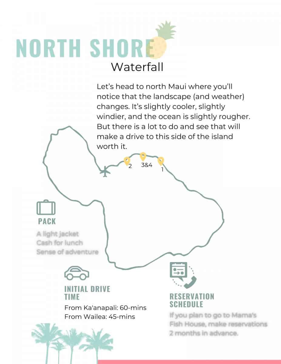 Maui Wayfinder Itinerary North Shore Overview