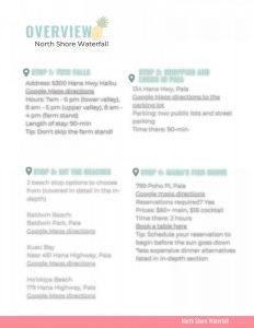 Maui Wayfinder Itinerary North Shore Summary