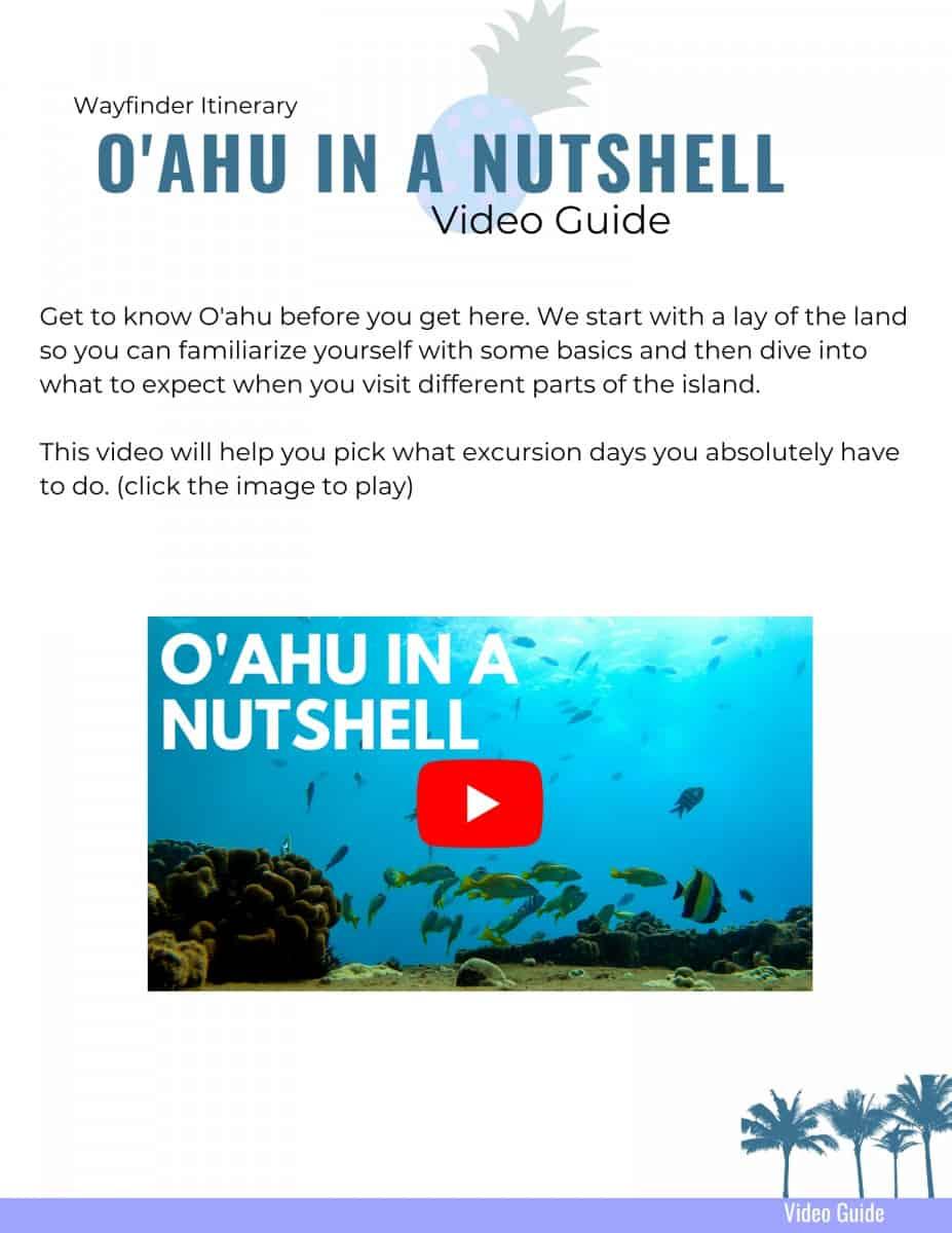 Oahu Wayfinder Itinerary Oahu Guide Video