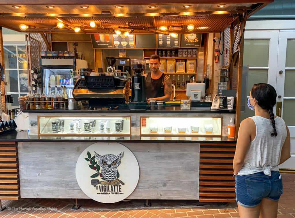 VigiLatte coffee shop lahaina maui