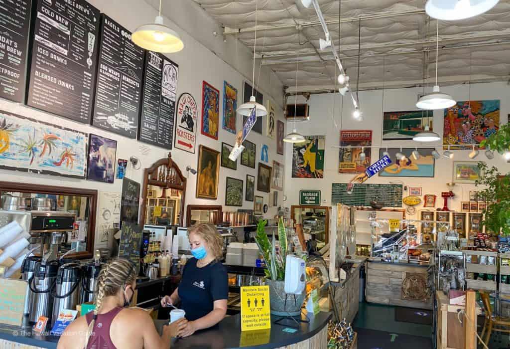 best coffee maui Maui Coffee Roasters counter