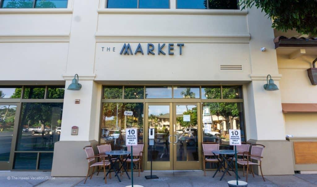 best coffee shops Maui Market Wailea outside store