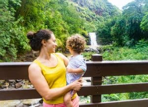 easy hikes oahu Waimea Valley Waterfall hike