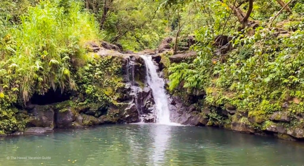 waterfalls along road to hana in one day