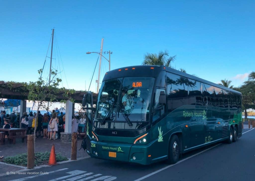 Roberts Hawaii airport shuttle no car rental on maui