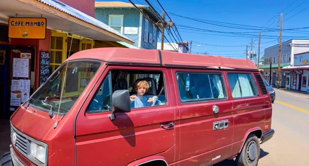 maui without a rental car Maui camper van rental options