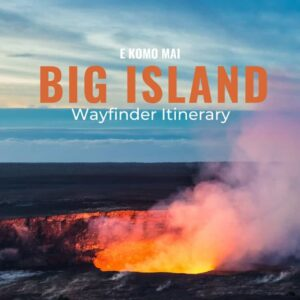 Big Island Itinerary cover page