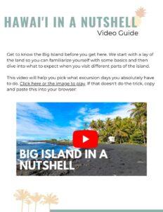 Big Island Itinerary video guide