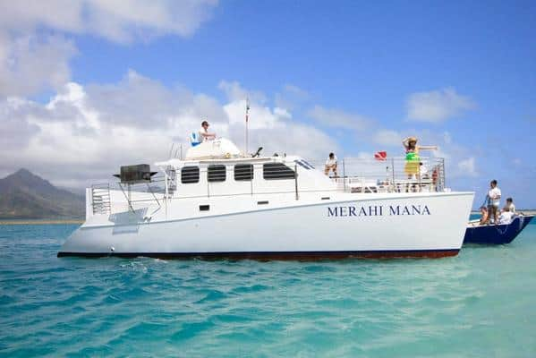 Kanehoe sandbar catamaran tour