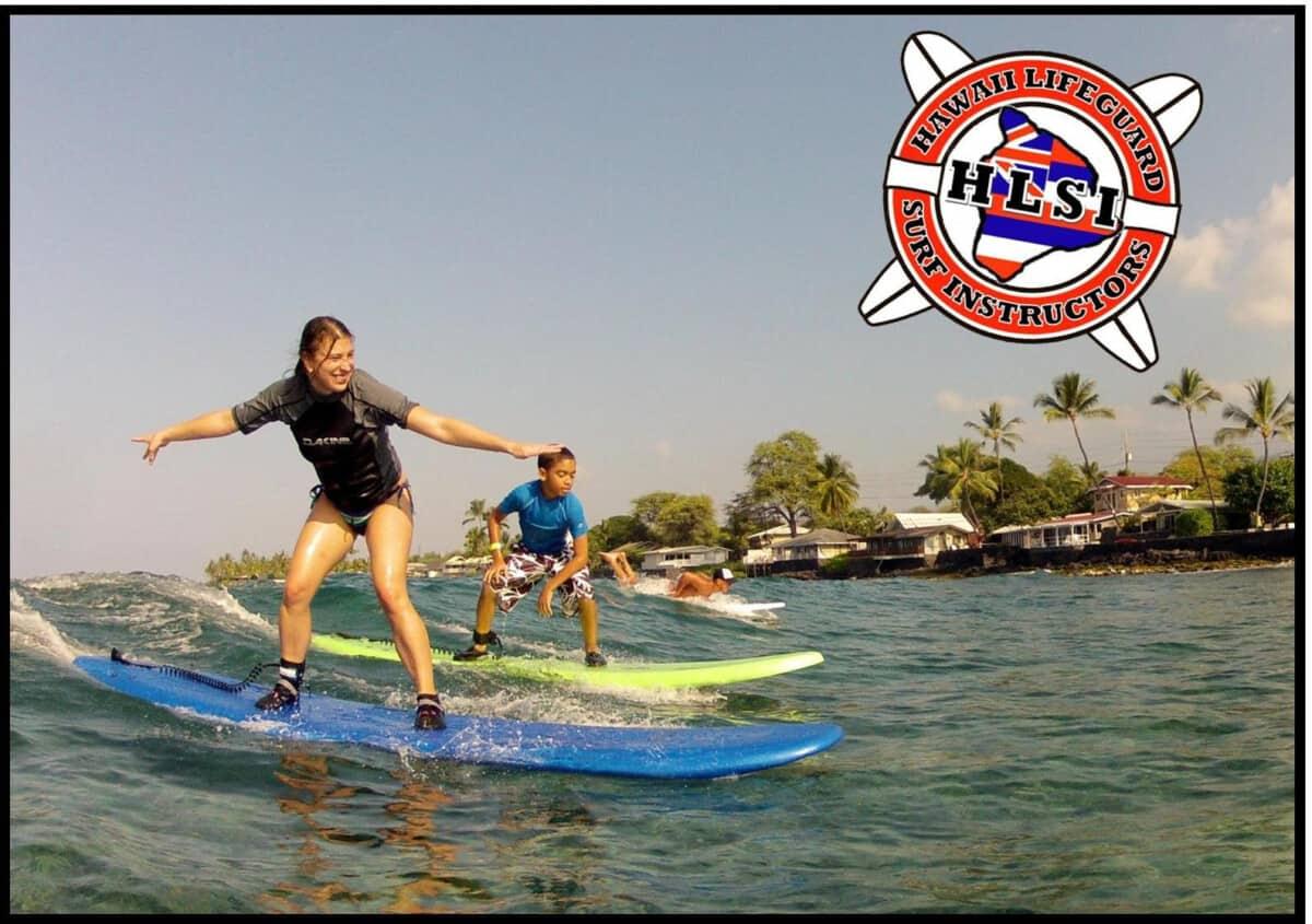 Hawaii Lifeguard Surf Instructor Kailua Kona Surf School