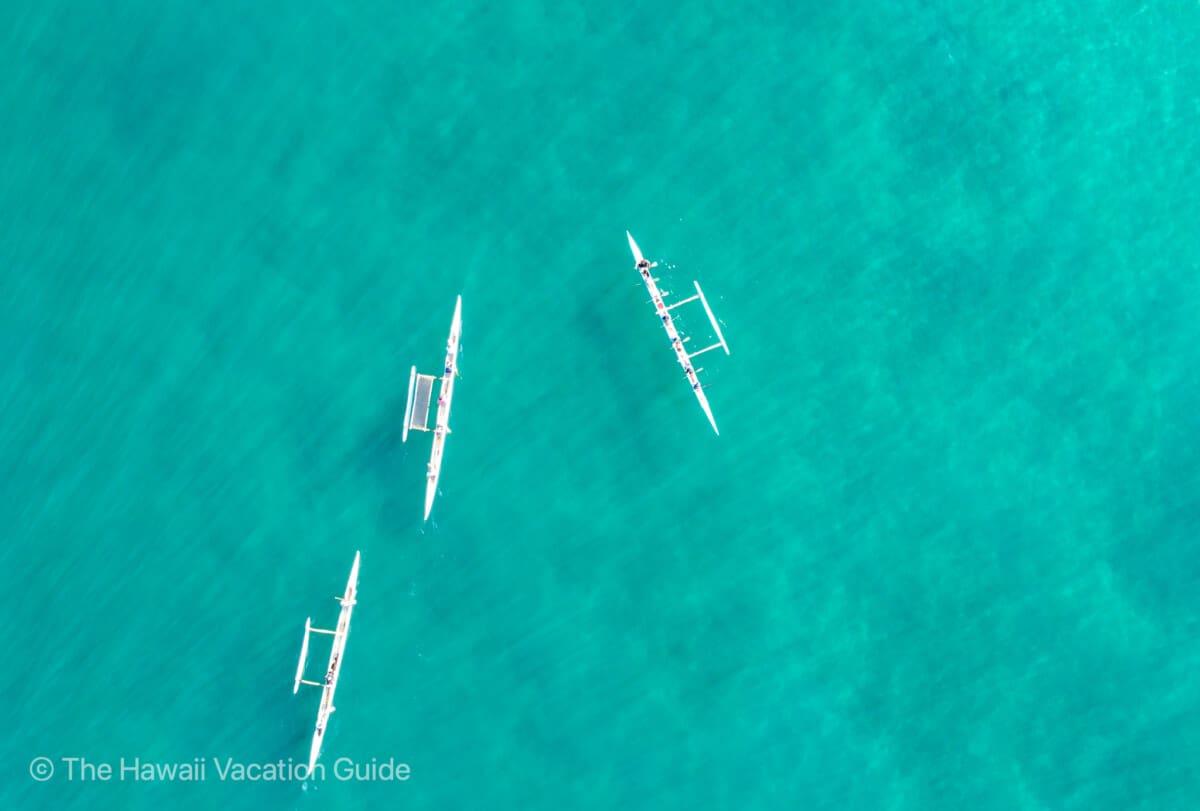 Kailua-Kona Hawaiian Outrigger Canoe Trip