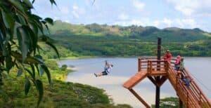 Kauai zipline tour poipu Koloa Zipline