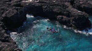 Seacaves Hawaii big Island Captain zodiac