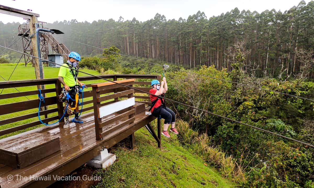 Umauma Falls zipline adventure tour