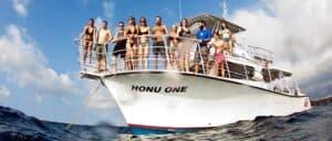 honu one kona diving boat