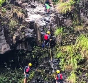 waterfall repel umauma falls hilo hawaii